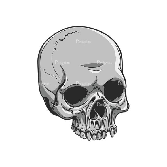 Skull Vector Clipart 20-1 Clip Art - SVG & PNG vector