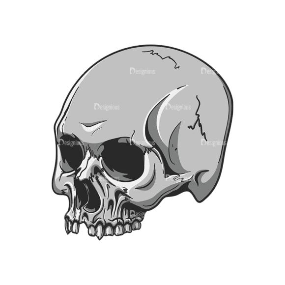 Skull Vector Clipart 20-6 Clip Art - SVG & PNG vector