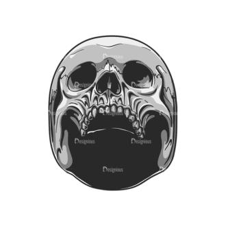 Skull Vector Clipart 20-8 Clip Art - SVG & PNG vector