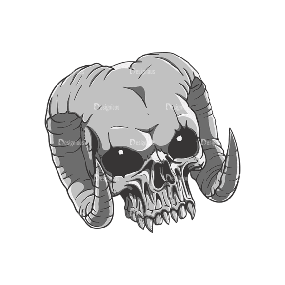 Skull Vector Clipart 21-2 Clip Art - SVG & PNG vector