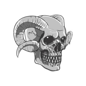 Skull Vector Clipart 21-4 Clip Art - SVG & PNG vector