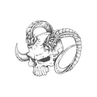 Skull Vector Clipart 23-2 Clip Art - SVG & PNG vector