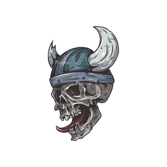 Skull Vector Clipart 24-4 Clip Art - SVG & PNG vector