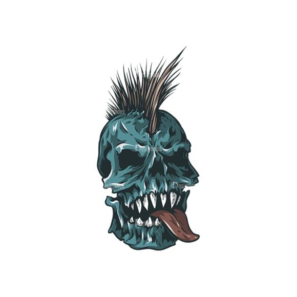 Skull Vector Clipart 24-5 Clip Art - SVG & PNG vector
