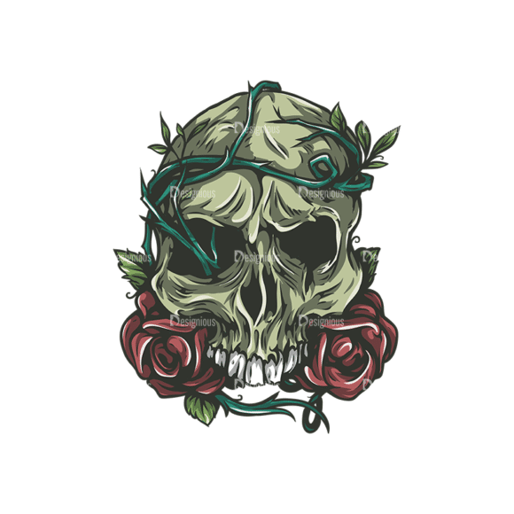 Skull Vector Clipart 24-6 Clip Art - SVG & PNG vector