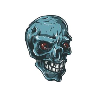 Skull Vector Clipart 25-1 Clip Art - SVG & PNG vector