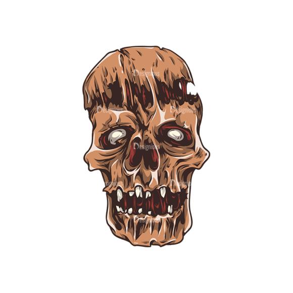 Skull Vector Clipart 25-2 Clip Art - SVG & PNG vector