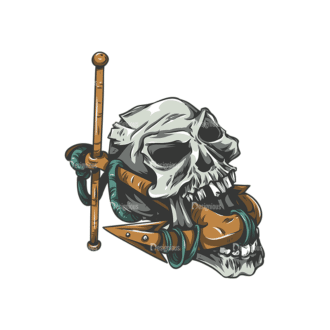 Skull Vector Clipart 25-6 Clip Art - SVG & PNG vector