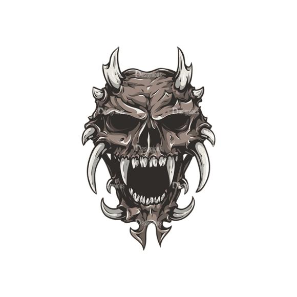 Skull Vector Clipart 26-2 Clip Art - SVG & PNG vector
