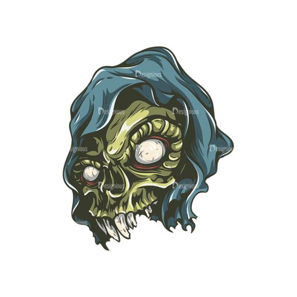 Skull Vector Clipart 26-4 Clip Art - SVG & PNG vector