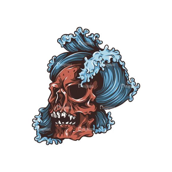 Skull Vector Clipart 27-1 Clip Art - SVG & PNG vector