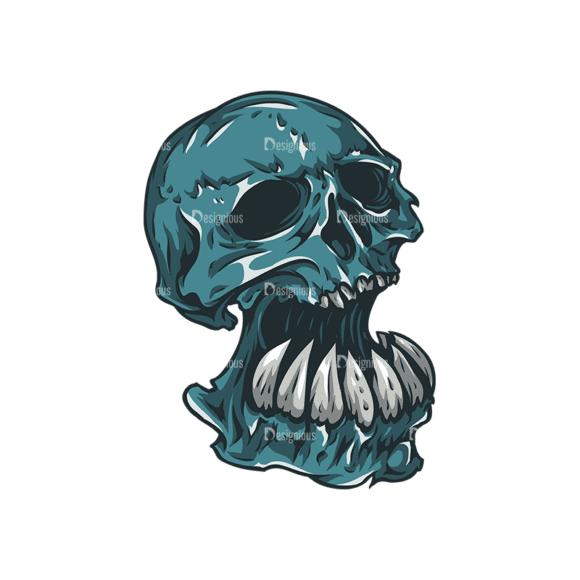 Skull Vector Clipart 27-2 Clip Art - SVG & PNG vector