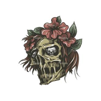Skull Vector Clipart 27-4 Clip Art - SVG & PNG vector