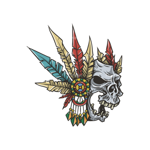 Skull Vector Clipart 29-1 Clip Art - SVG & PNG vector