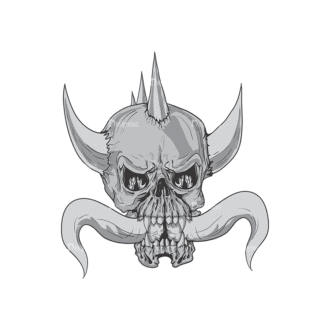 Skull Vector Clipart 3-14 Clip Art - SVG & PNG vector