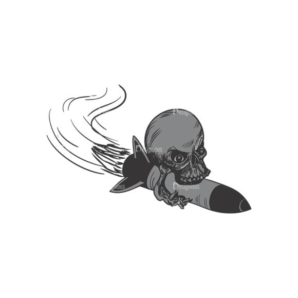 Skull Vector Clipart 3-2 Clip Art - SVG & PNG vector