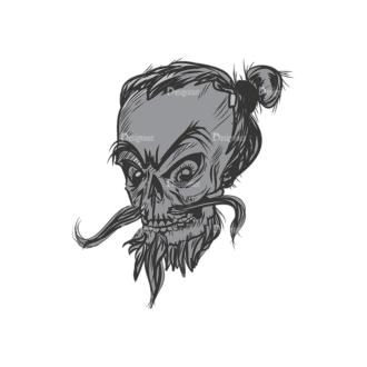 Skull Vector Clipart 3-3 Clip Art - SVG & PNG vector