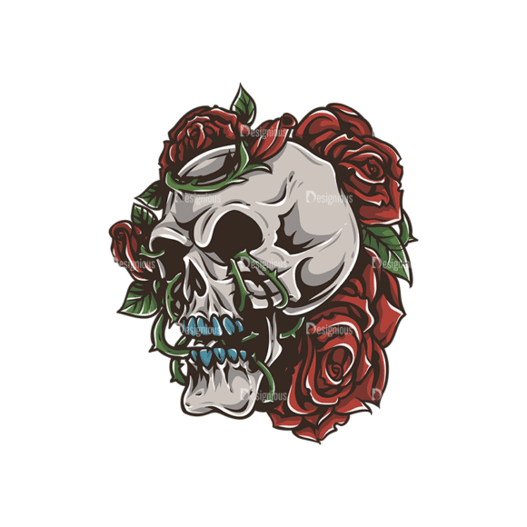 Skull Vector Clipart 30-2 Clip Art - SVG & PNG vector
