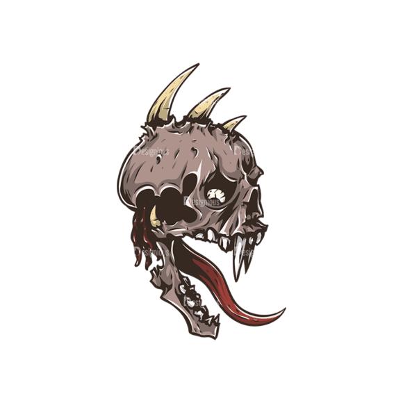 Skull Vector Clipart 30-4 Clip Art - SVG & PNG vector