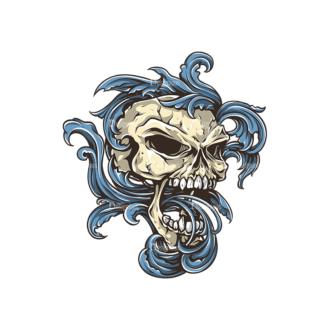Skull Vector Clipart 30-5 Clip Art - SVG & PNG vector