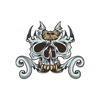 Skull Vector Clipart 30-6 Clip Art - SVG & PNG vector
