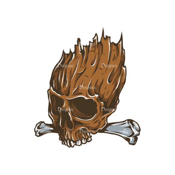 Skull Vector Clipart 31-6 Clip Art - SVG & PNG vector