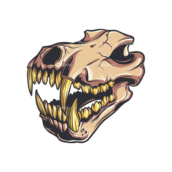 Skull Vector Clipart 32-2 Clip Art - SVG & PNG vector