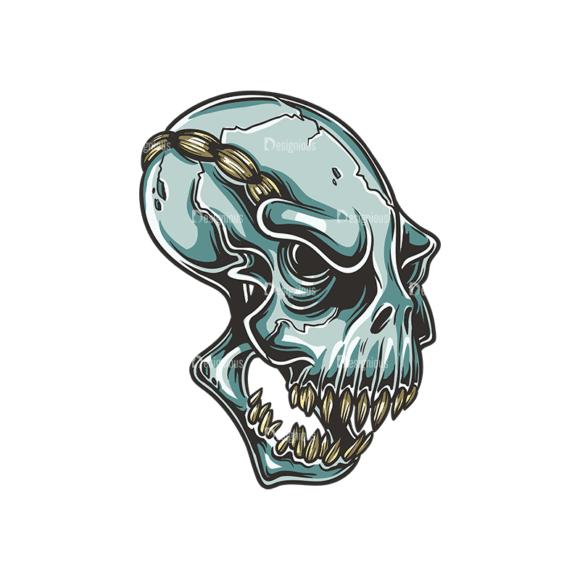 Skull Vector Clipart 34-3 Clip Art - SVG & PNG vector