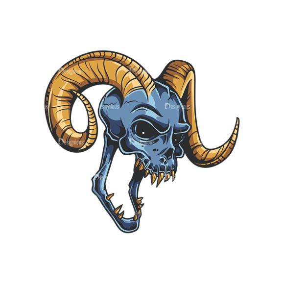 Skull Vector Clipart 35-1 Clip Art - SVG & PNG vector