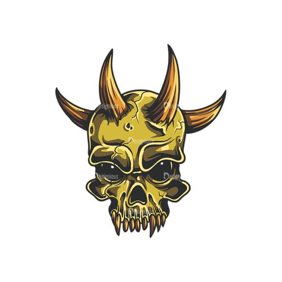 Skull Vector Clipart 35-4 Clip Art - SVG & PNG vector