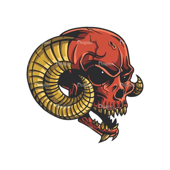 Skull Vector Clipart 35-6 Clip Art - SVG & PNG vector
