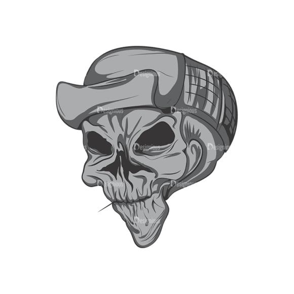 Skull Vector Clipart 4-6 Clip Art - SVG & PNG vector