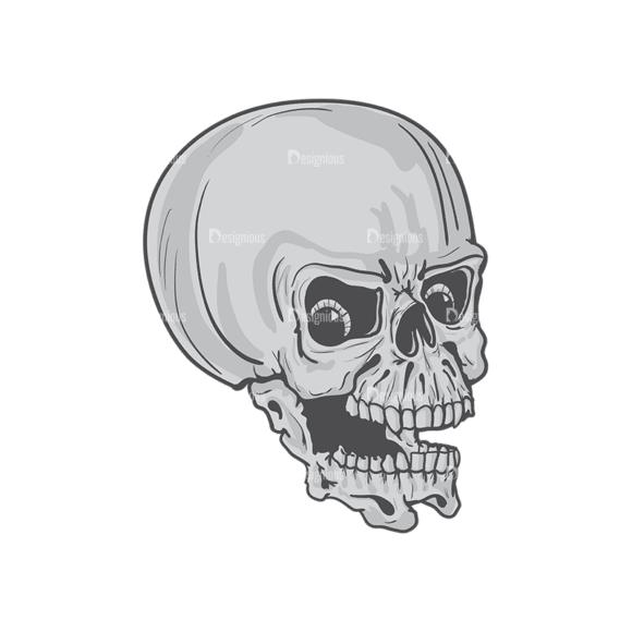 Skull Vector Clipart 4-8 Clip Art - SVG & PNG vector