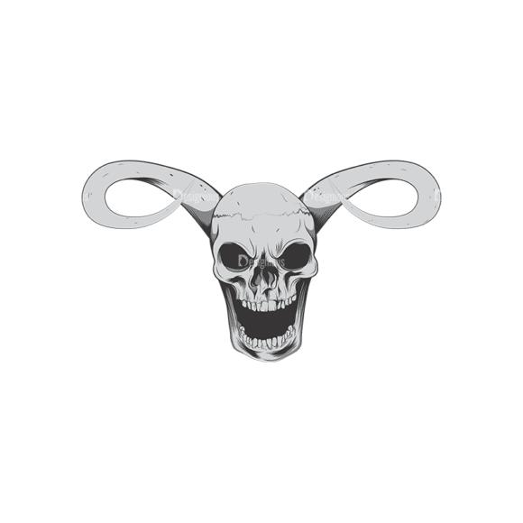 Skull Vector Clipart 6-1 Clip Art - SVG & PNG vector