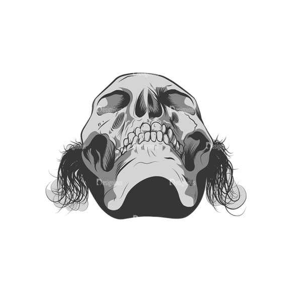 Skull Vector Clipart 6-3 Clip Art - SVG & PNG vector