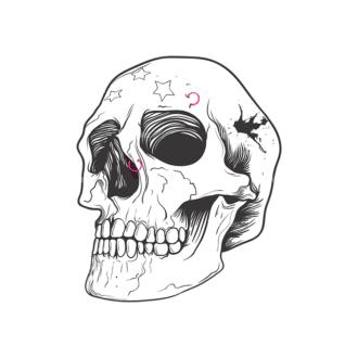 Skull Vector Clipart 9-7 Clip Art - SVG & PNG vector