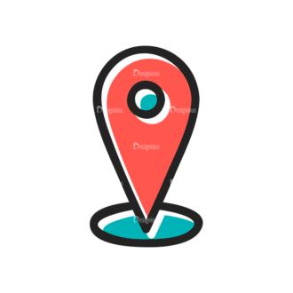 Social Media Doodle Vector Set 5 Vector Location Clip Art - SVG & PNG vector