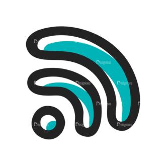 Social Media Doodle Vector Set 5 Vector Wifi Clip Art - SVG & PNG vector