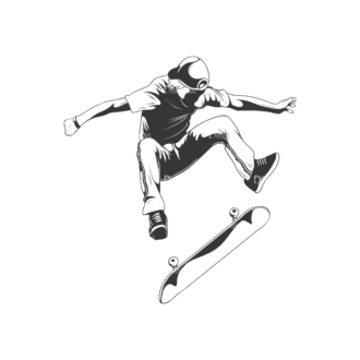 Sports Skaters Pack 1 2 Preview Clip Art - SVG & PNG vector