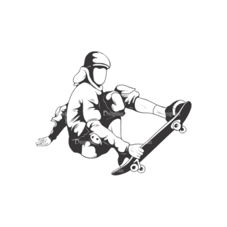 Sports Skaters Pack 1 4 Preview Clip Art - SVG & PNG vector