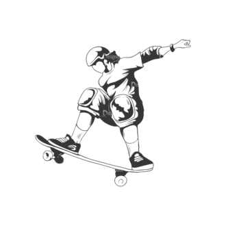 Sports Skaters Pack 1 6 Preview Clip Art - SVG & PNG vector