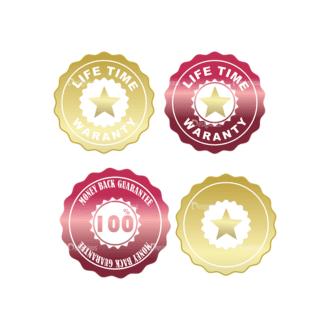 Stickers Vector 1 10 Clip Art - SVG & PNG vector