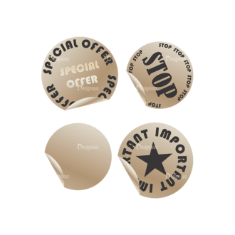 Stickers Vector 1 8 Clip Art - SVG & PNG vector