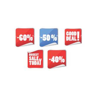 Stickers Vector 4 7 Clip Art - SVG & PNG vector