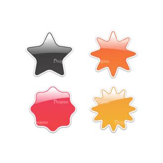 Stickers Vector 5 5 Clip Art - SVG & PNG vector