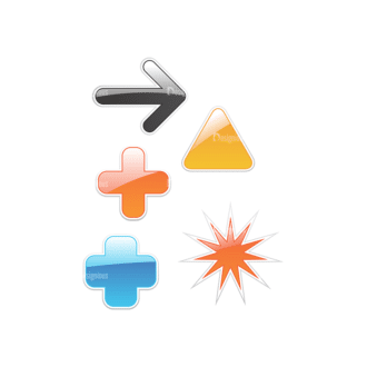 Stickers Vector 5 6 Clip Art - SVG & PNG vector
