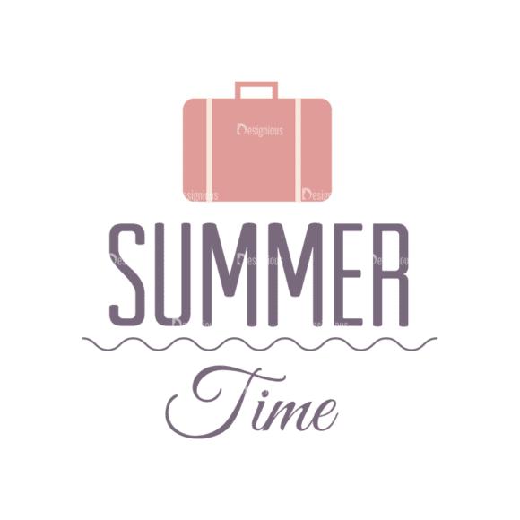 Vacation Emblems Vector Set 1 Vector Summer 11 Clip Art - SVG & PNG summer