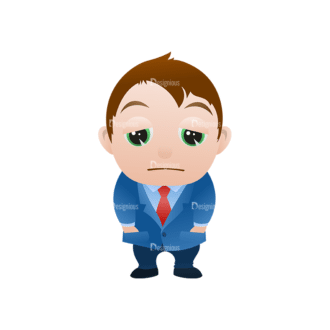 Vector Mascots Business Man Vector Business Man 10 Clip Art - SVG & PNG vector