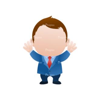 Vector Mascots Business Man Vector Business Man 30 Clip Art - SVG & PNG vector