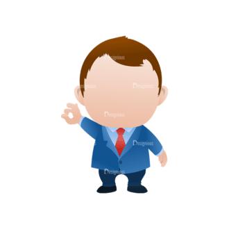 Vector Mascots Business Man Vector Business Man 40 Clip Art - SVG & PNG vector